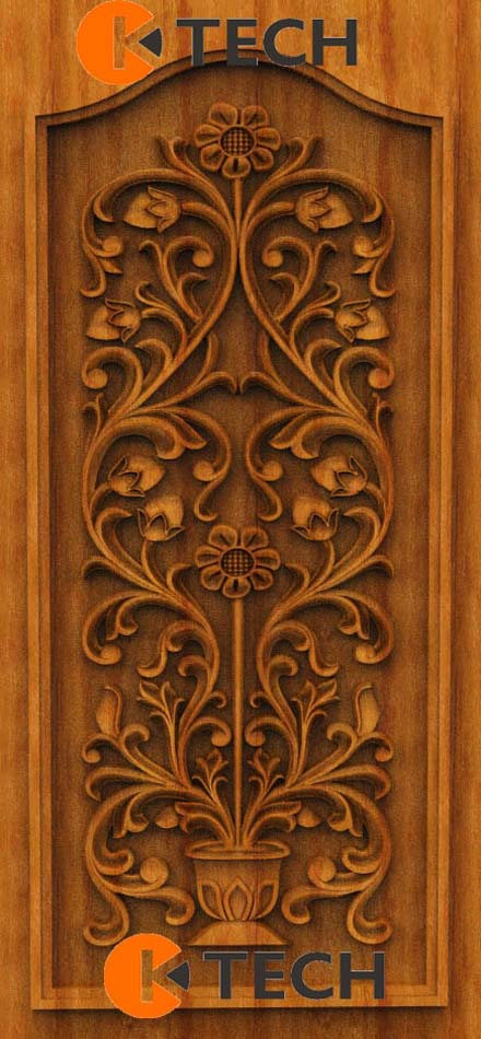 K-TECH CNC Oak Door Design 05