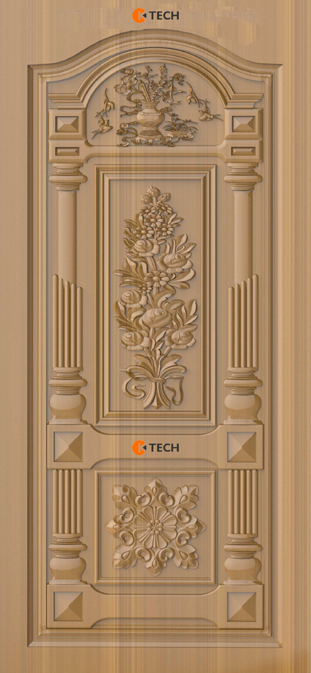 K-TECH CNC Modern Doors Design 05