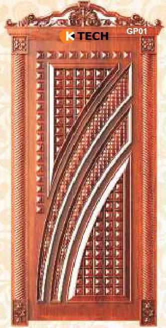 KTECH CNC Golden Panel Doors Design 01