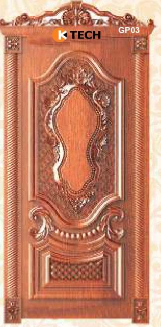 KTECH CNC Golden Panel Doors Design 03
