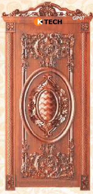 KTECH CNC Golden Panel Doors Design 07