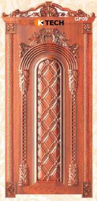 KTECH CNC Golden Panel Doors Design 09