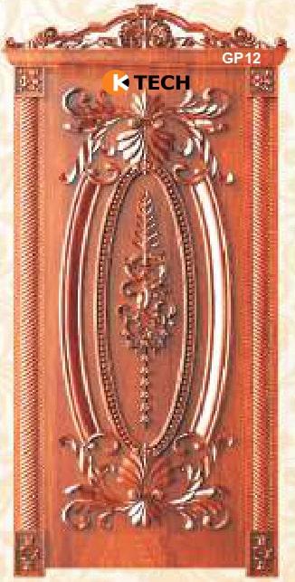 KTECH CNC Golden Panel Doors Design 12