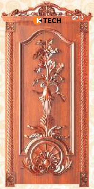KTECH CNC Golden Panel Doors Design 13