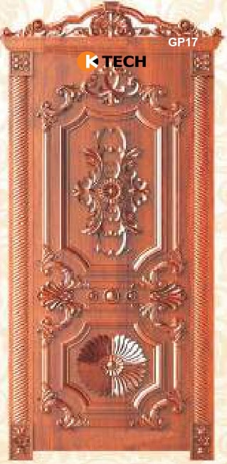 KTECH CNC Golden Panel Doors Design 16