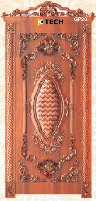 KTECH CNC Golden Panel Doors Design 20