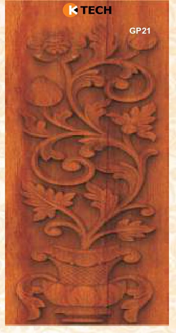 KTECH CNC Golden Panel Doors Design 21