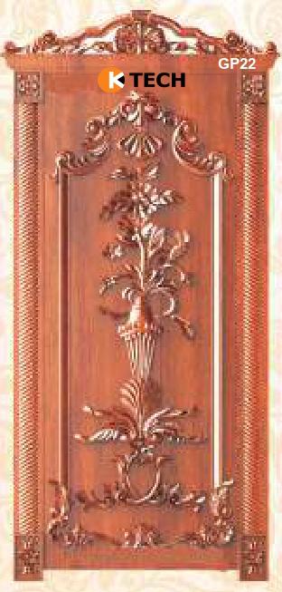 KTECH CNC Golden Panel Doors Design 22