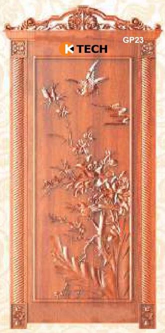 KTECH CNC Golden Panel Doors Design 23
