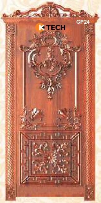 KTECH CNC Golden Panel Doors Design 24