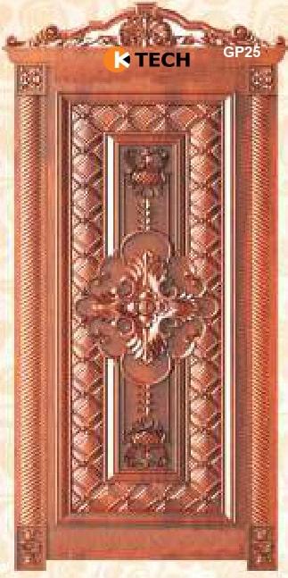 KTECH CNC Golden Panel Doors Design 25