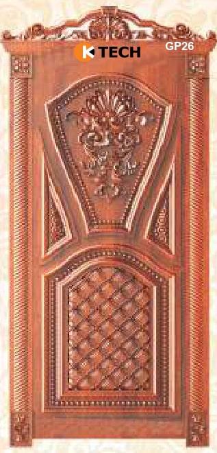 KTECH CNC Golden Panel Doors Design 26
