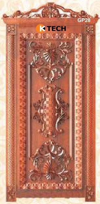KTECH CNC Golden Panel Doors Design 28
