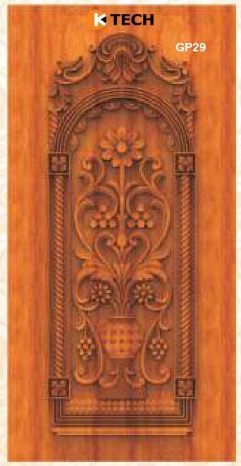 KTECH CNC Golden Panel Doors Design 29