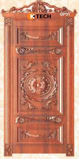 KTECH CNC Golden Panel Doors Design 31