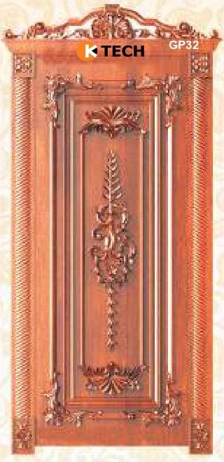 KTECH CNC Golden Panel Doors Design 32