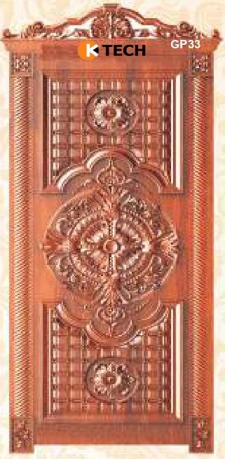 KTECH CNC Golden Panel Doors Design 33
