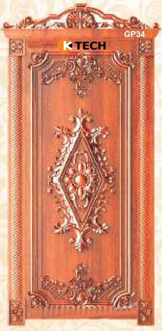 KTECH CNC Golden Panel Doors Design 34