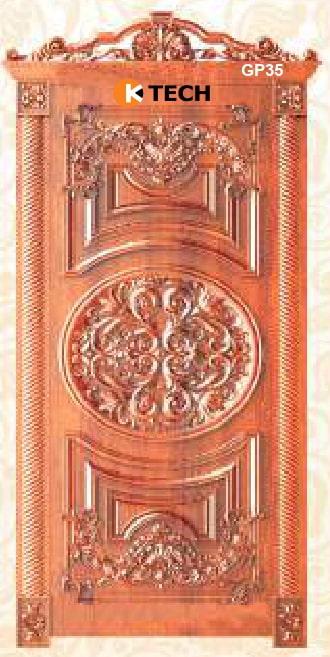KTECH CNC Golden Panel Doors Design 35
