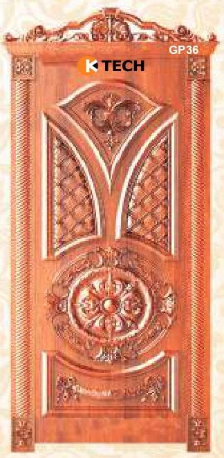 KTECH CNC Golden Panel Doors Design 36
