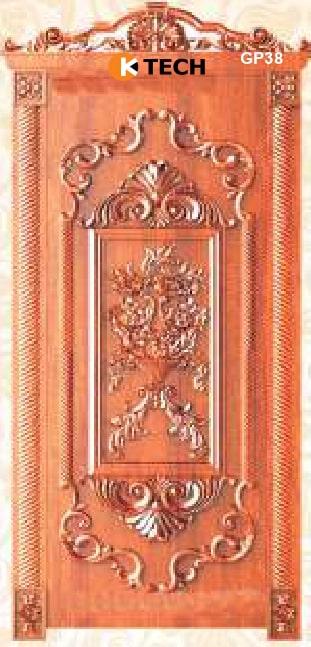 KTECH CNC Golden Panel Doors Design 38